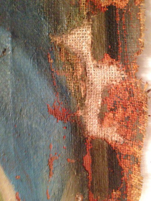 dipinto ad olio su tela settecentesco